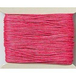 Baumwollkordel, gewachst, 1mm, pink