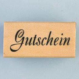 Schriftstempel Gutschein Holzstempel