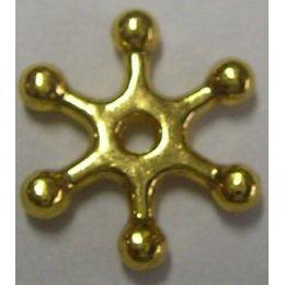 Metallverzierteil - echt vergoldet, nickelfrei - 12 mm, Flocke