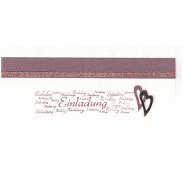 Einladungskarte Hochzeit Herz mit Designpapier - auch als Bastel-Set