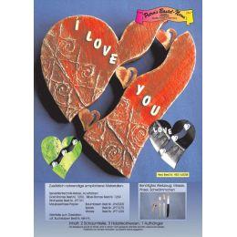 Styropor-Herz zum bemalen und ausschmücken 42 cm