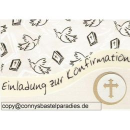 handmade Golddruck Bibel mit Taube