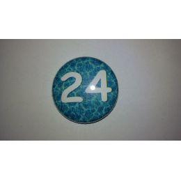 24 Buttons 25mm für Adventskalender 1-24