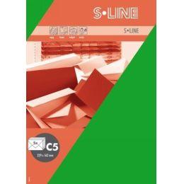 S-line A6 Karte, passendes Kuvert und Briefbogen je 5 Stück - birke
