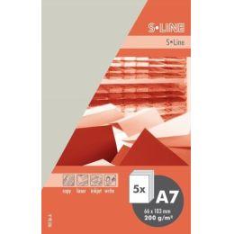S-line A6 Karte, passendes Kuvert und Briefbogen je 5 Stück - silberdistel
