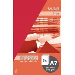 S-line A6 Karte, passendes Kuvert und Briefbogen je 5 Stück - Rose