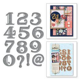 Spellbinder Shapeabilities Viktorianische Zahlen S4-540