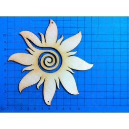 Sonne mit breiten Strahlen und Spirale 80mm,100mm, 120mm, 160mm, 200mm