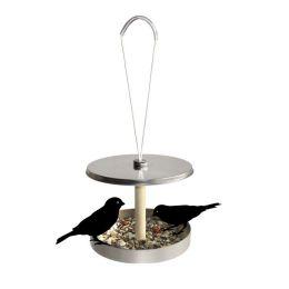 Vogelhaus Birdi to go - Futterplatz für Vögel, aus Weißblech