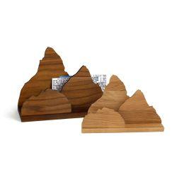Briefständer Zettelherberge aus Holz, wahlweise Nussbaum oder Eiche
