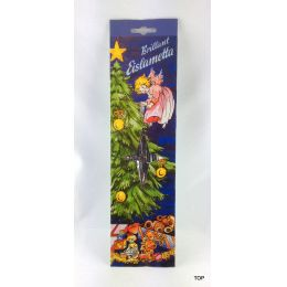 10x Staniol Brillant Eislametta Weihnachtsbaum 30 Fäden Silber Lametta verzinkt Schwer!!!
