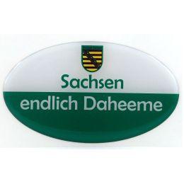 Aufkleber Sachsen Ostprodukt Ossi Spruch Sachsen endlich Daheeme jeden echten Fan