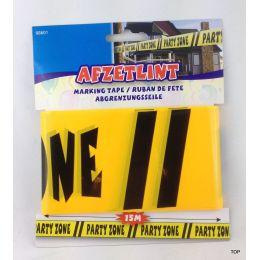 Absperrband Warnband Party Absperrband gelb schwarz Girlanden Deko Party Zone Banner Abgrenzungsseile