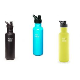 Trinkflasche Classic Sport 800 ml Sportflasche Kinderflasche Edelstahl Flasche