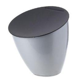 Abfallbehälter Calypso silber Tischabfall Kücheneimer Mülleimer Abfalleimer Biomüll Kompost