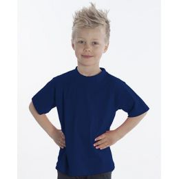 SNAP T-Shirt Basic-Line Kids, Gr. 128, Farbe navy