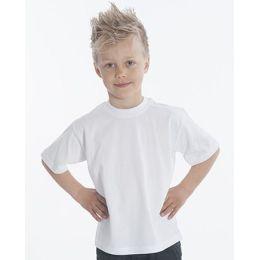 SNAP T-Shirt Basic-Line Kids, Gr. 128, Farbe weiss