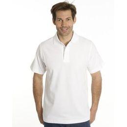 SNAP Polo Shirt Star - Gr.: M, Farbe: weiss