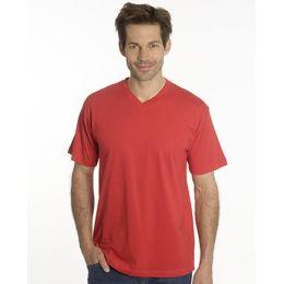 SNAP T-Shirt Flash Line V-Neck Unisex, rot, Gr. L