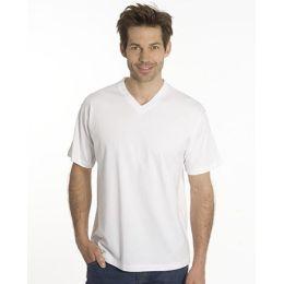 SNAP T-Shirt Flash Line V-Neck Unisex, weiss, Gr. L