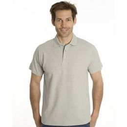 SNAP Polo Shirt Star - Gr.: M, Farbe: grau meliert