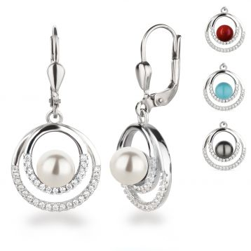 Sterlingsilber Gestempelt Ohrringe mit verschiedene 6mm Edelstein Silber 925