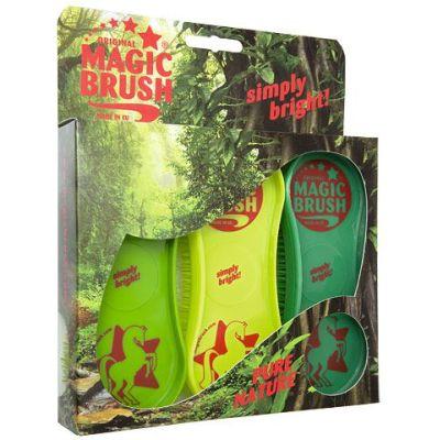 MagicBrush Pferdebürsten 3er Set Pure Nature