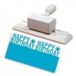 Motivlocher Martha Stewart HAPPY BIRTHDAY