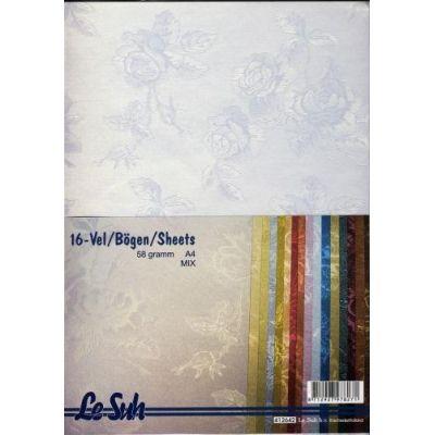 16 Struktur-Bögen große Blumen - DIN A4 - 58 gramm   412642
