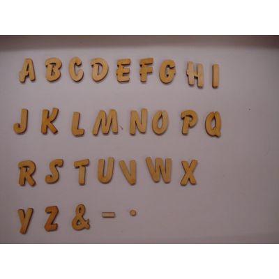 ABC Holzbuchstaben natur Kleinteile gelasert 33mm | ABH 33-Ö