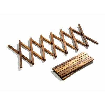 ausziehbarer Untersetzer aus Holz für Töpfe und Pfannen   348384061