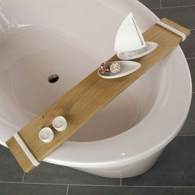 Badebrett - Ablage aus Eiche für die Badewanne | 165496076