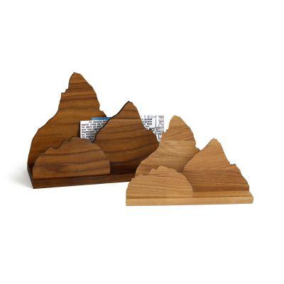 Briefständer Zettelherberge aus Holz, wahlweise Nussbaum oder Eiche | 763610326