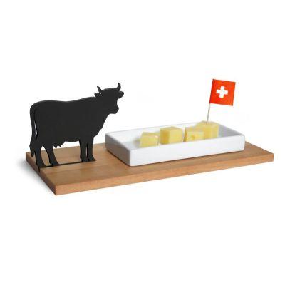 Käseschale Kuh - Dippschale für Käsewürfel, Brotaufstriche und Eingelegtes | 428106266