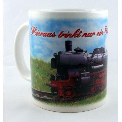 Tasse kaffeebecher porzellan geschenkidee deko eisenbahn - Deko eisenbahn ...