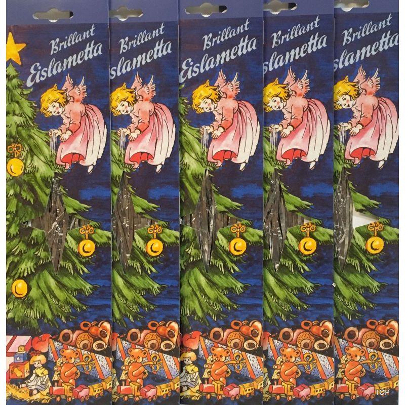 Bilderauswahl von 5x Staniol Brillant Eislametta Weihnachtsbaum 30 ...