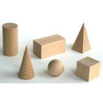 Ebert Geometrische Körper - Raumkörpersatz aus Holz 6 Teile