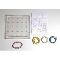 Geometriebrett klein transparent aus RE-Plastic®