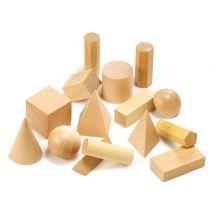 Geometriekörper aus Holz,15 Teile