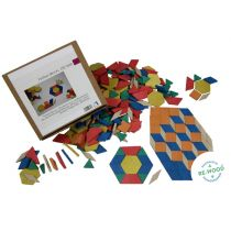 Geometrische Legeplättchen Pattern Blocks, 250 Teile aus RE-Wood®