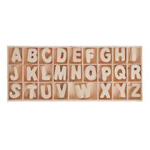 Holz-Buchstaben ABC je 5 Buchstaben