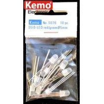 Kemo Duo-LED Ø 5 mm rot/grün 10 Stück