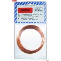 Kemo Kupferlackdraht 0,7mm/ 12m