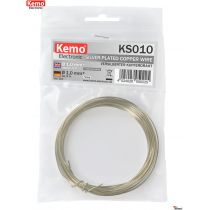 Kemo Versilberter Kupferdraht 1mm/ 5m