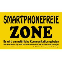 KIDS AT WORK Schild Smartphone frei