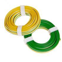 Litze 3-adrig, 3 x 18 x 0,1/ grün, weiß, gelb
