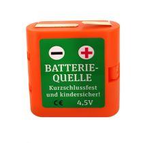 LYS Media Batterieadapter 4,5 Volt, Flachbatterie, mit selbst-rückstellender PTC-Sicherung