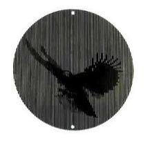 Moiré-Fensterhänger (Adler)