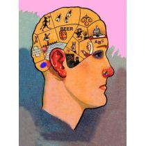 Postkarte mit Wackelbild Die Gedanken sind frei