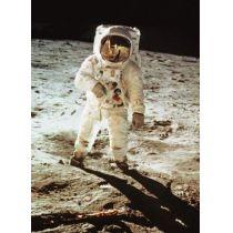 Postkarte mit Wackelbild Walking on the moon